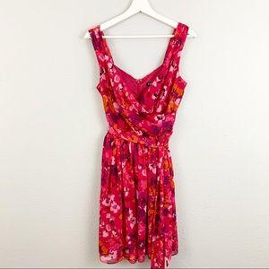 Express Floral Chiffon Dress
